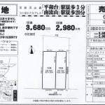 流山市西平井 平和台駅徒歩3分 売地192.73㎡ 建築条件なし