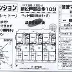 松戸市新松戸北1 新松戸駅 貸マンション3DK ペット可
