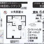 江戸川区平井5 平井駅徒歩3分 貸マンション1K